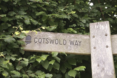 cotswold: Cotswold way sign directing left