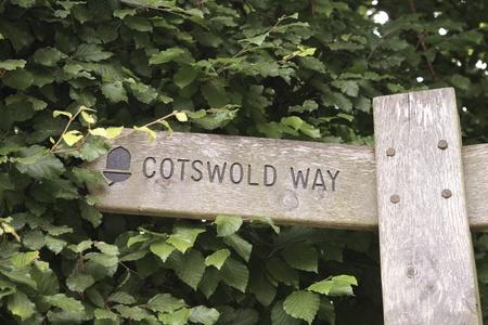 cotswold: Segno di modo Cotswold dirigendo a sinistra