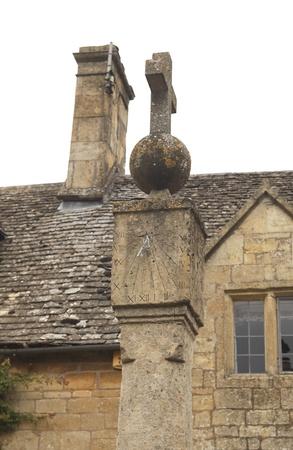 Old medieval stone sundial  photo