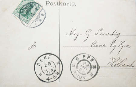 reich: German vintage postcard 1908 with stamp and postmarks, posted in Deutsches Reich (Germany)