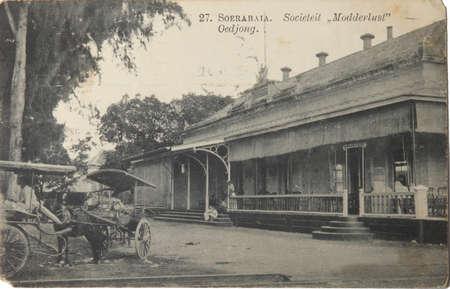 THE NETHERLANDS, DUTCH INDIES, SOERABAIA-CIRCA 1908; Historical postcard of Modderlust in Soerabaia, Dutch Indies, circa 1908 Stock Photo - 9204937