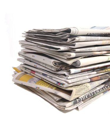 Newspapers on a stack photo