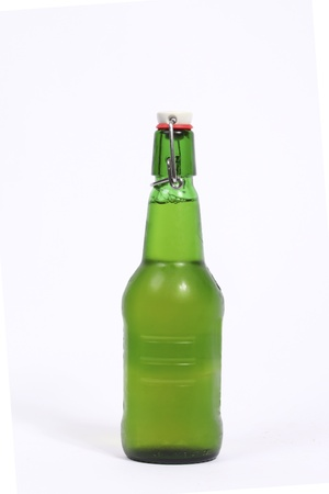 Swing top bottle with beer photo