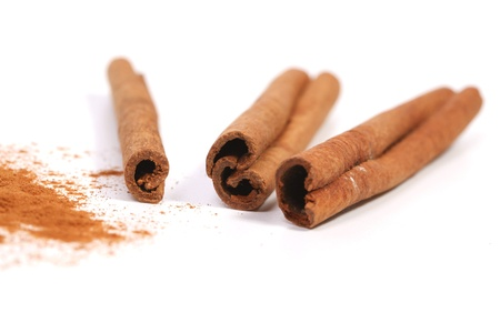 grounded: Cinnamon sticks and powder