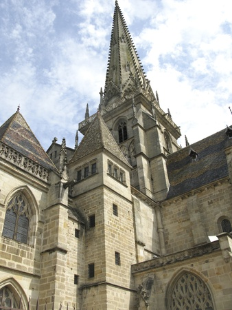 romanesque: Famous Romanesque cathedral in Autun
