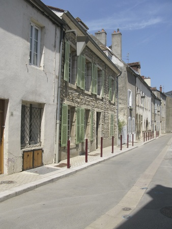 georges: Street in Nuits Saint Georges in Burgundy, France