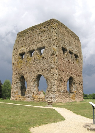 janus: Ancient Roman Temple of Janus in Autun, France.The Romans called this town Augustodunum as it was built during the reign of Augustus Stock Photo