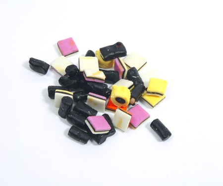All sorts of liquorice in different colors