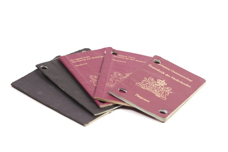 valid: Five non valid Dutch passports from 1975 to 2000