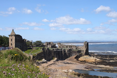 andrews: Ancient castle of St Andrews in Scotland