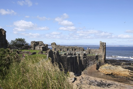 Ruins of St. Andrews ancient castle  Stock Photo - 10499872