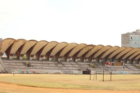 De Latinamericano Stadion in Havana, Cuba werd gebouwd in 1946 en biedt plaats 55.000 toeschouwers Redactioneel