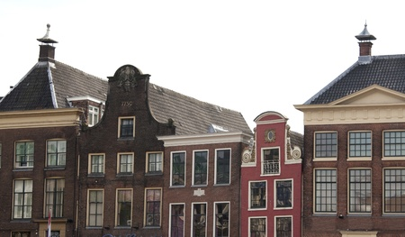 18th century: Beautiful old step gable roofs in Groningen in the Netherlands Editorial