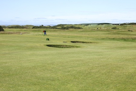 Deep holes at the old course in St. Andrews Stock Photo - 10897764