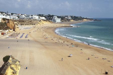 Beautiful Albufeira beach in the Algarve in Portugal Stock Photo - 11078177