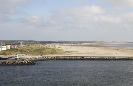 ijmuiden: Big and wide beach at IJmuiden in the Netherlands