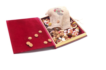 Book of st nicholas filled with sweets Stock Photo - 11260401