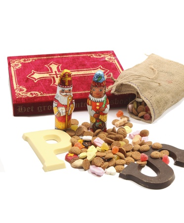 Dutch sinterklaas items and sweets  photo