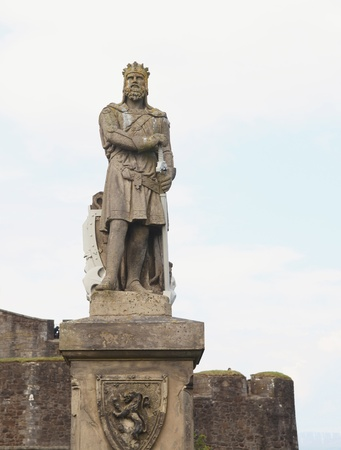 robert: Statue of Robert the Bruce at Stirling castle Stock Photo
