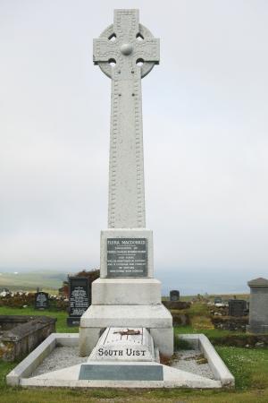 jacobite: Grave iof heroine Flora McDonald on Kilmuir Cemetery on the Isle of Skye