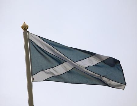 scottish flag: Scottish flag with st andrews cross Stock Photo