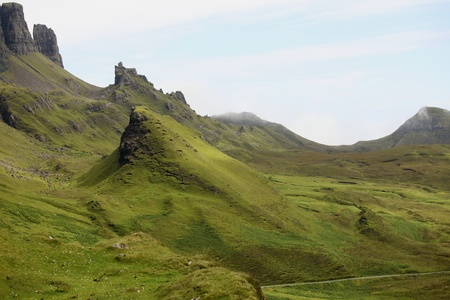 Beautiful Quiraing landscape on the Isle of Skye Stock Photo - 11778475