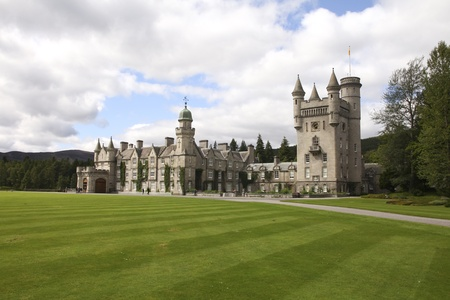 Balmoral castle in Scotland, holiday home of British royalty