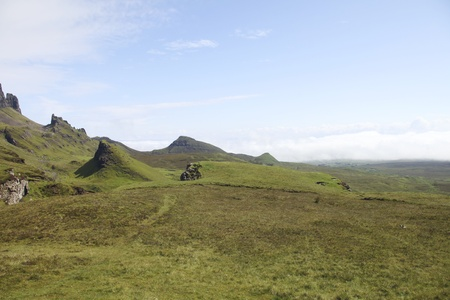 Beautiful Quirang landscape on the Isle of Skye in Scotland Stock Photo - 11870648