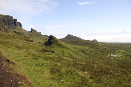 Beautiful Quiraing landscape on the Isle of Skye Stock Photo - 11870638