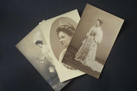 wilhelmina: NETHERLANDS- CIRCA 1911:Three vintage postcards  showing Wilhelmina, Queen of the Netherlands (1880-1962) circa 1911