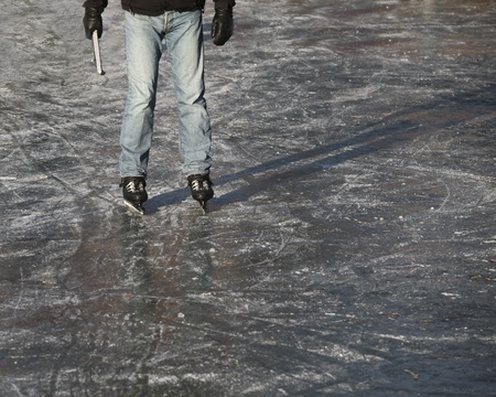 Dutch ice skater standing on ice  Stock Photo - 12433030