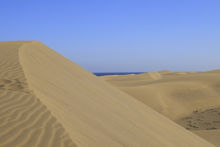 canaria: High sand dunes Stock Photo