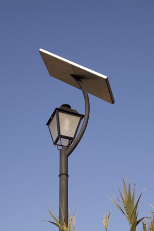 Solar energy used for lantern  on sunny day photo