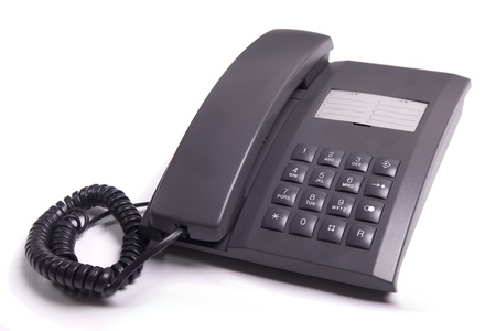 Black telephone from the 1990s photo