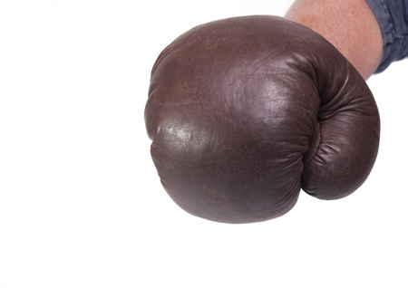 Retro boxing glove gives a punch  photo
