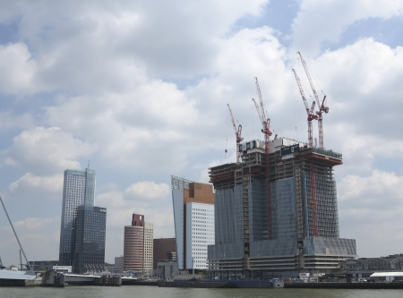 ROTTERDAM, THE NETHERLANDS -JUNE 26:Construction work in Rotterdam on June 26, 2012