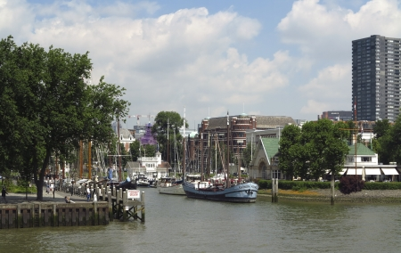 bombardment: NETHERLANDS- JUNE 28: View on a historical part of Rotterdam on June 28, 2012. One of the few parts which wasnt destroyed by German bombing of Rotterdam in WWII Editorial