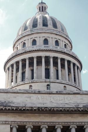 capitolio: Capitolio, the Cuban capitol building and dome in Havana, Cuba