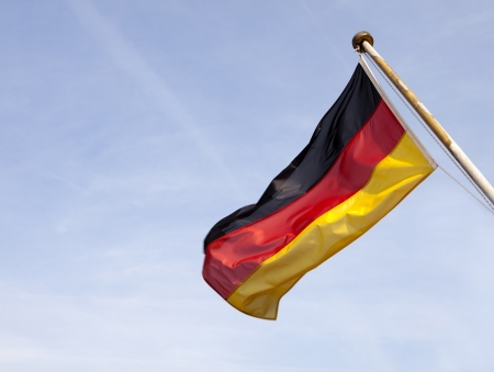 German flag flying  Stock Photo - 15730004