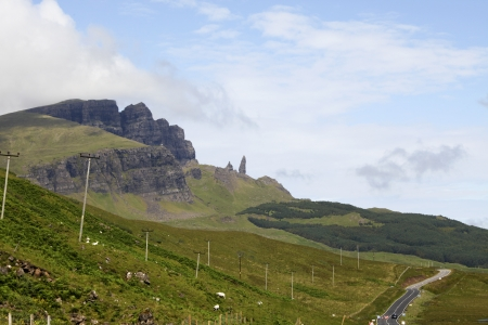 typically scottish: Road to the Old man of Storr on the Isle of Skye