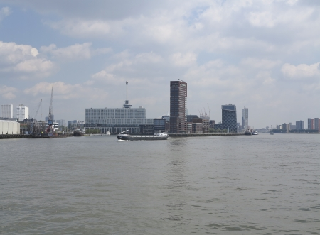 Rotterdam skyline and river Stock Photo