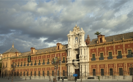 presidency: SEVILLE-PALACE OF SAN TELMO: Palacio de San Telmo - now headquarters of the Presidency of Andalusia in Seville, Spain Editorial