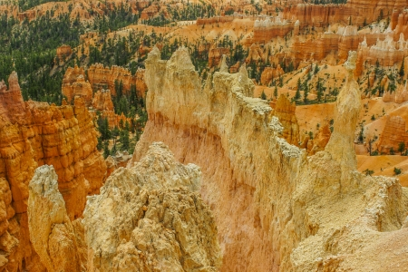 state park: View on Bryce with hodoos and pinnacles Stock Photo