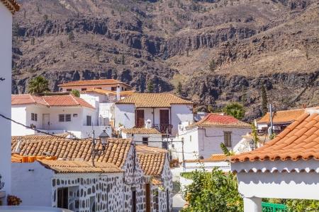 subtropics: Villaggio bianco di Fataga su Gran Canaria