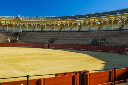 fight arena: Bullfighting arena in Seville, Spain