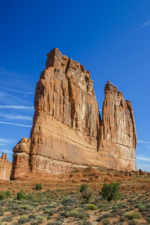 dome rock: Huge dome rock in Arches national park Editorial