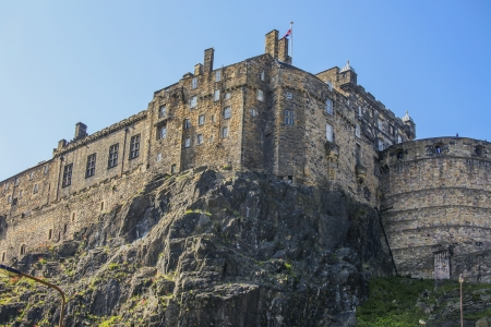 scots: Edinburgh castle on a summer day Editorial