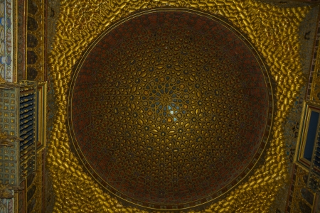 ambassadors: Dome interior of the Alcazar palace in Seville Editorial