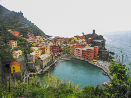 vernazza: View on town of Vernazza in Italy