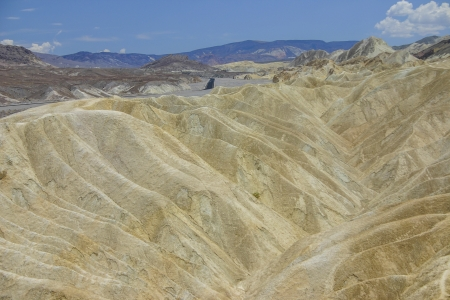 noted: Zabriskie Point is in Death Valley National Park in the United States noted for its erosional landscape